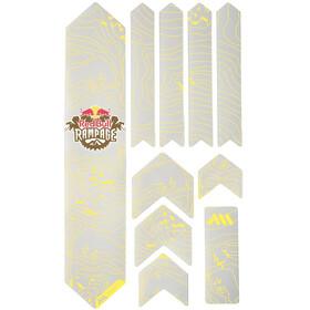All Mountain Style Extra Kit di Protezione del Telaio 10 Pezzi, grigio/giallo